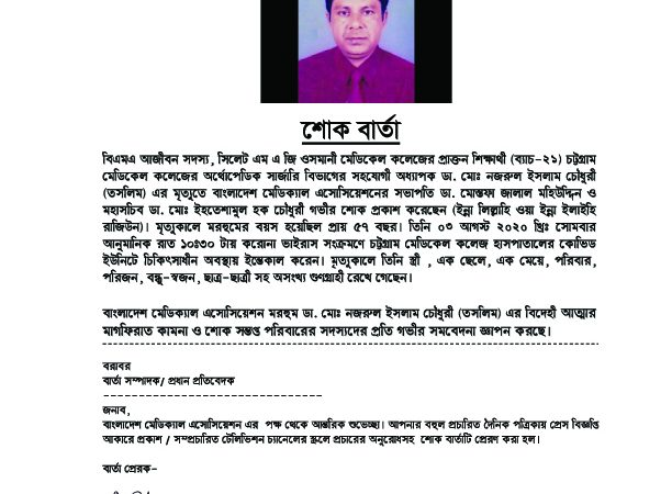 Dr. Md. Nazrul Islam Chowdhury Taslim